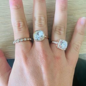 Lot of 3 rose gold rings size 9